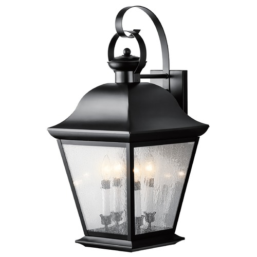 Kichler Lighting Kichler Outdoor Wall Light with Clear Glass in Black Finish 9704BK