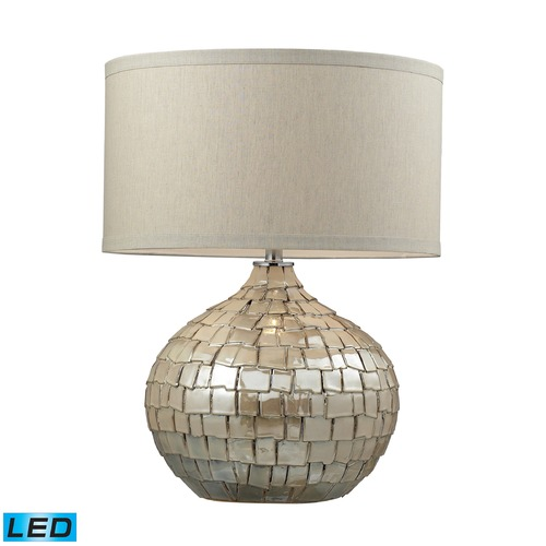 Dimond Lighting Dimond Lighting Cream Pearl LED Table Lamp with Drum Shade D2264-LED