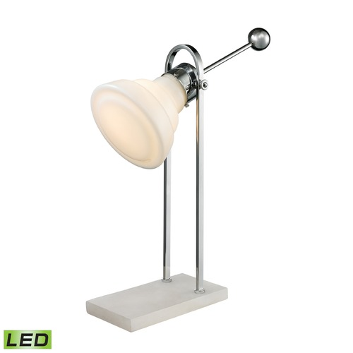Dimond Lighting Dimond Lighting White, Polished Nickel LED Desk Lamp D2614-LED