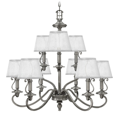 Hinkley Lighting Hinkley Lighting Plymouth Polished Antique Nickel Chandelier 4248PL