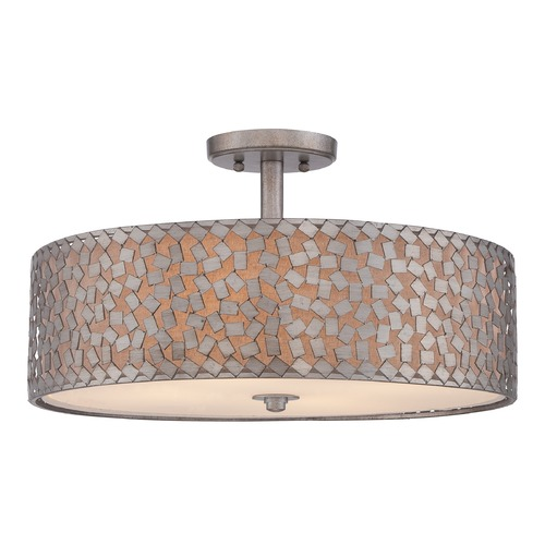 Quoizel Lighting Quoizel Confetti Old Silver Semi-Flushmount Light CKCF1720OS