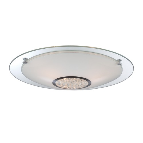 Lite Source Lighting Lite Source Zorana Chrome Flushmount Light LS-5671