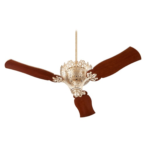 Quorum Lighting Quorum Lighting Le Monde Aged Silver Leaf Ceiling Fan Without Light 92623-60