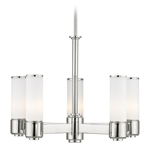 Livex Lighting Livex Lighting Weston Polished Nickel Chandelier 52105-35