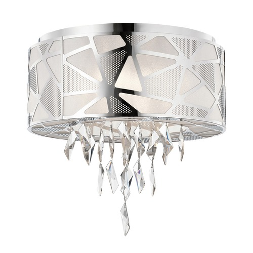 Elan Lighting Elan Lighting Angelique Chrome Flushmount Light 83585