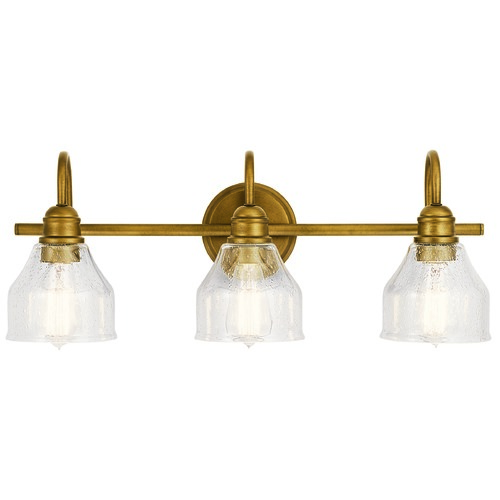 Kichler Lighting Kichler Lighting Avery Natural Brass Bathroom Light 45973NBR