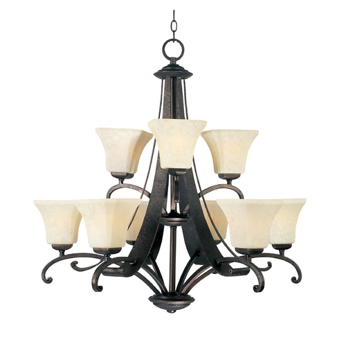 Maxim Lighting Maxim Lighting Oak Harbor Rustic Burnished Chandelier 21066FLRB
