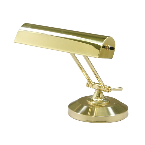 House of Troy Lighting Piano / Banker Lamp in Polished Brass Finish P10-150