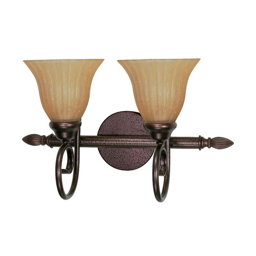 Nuvo Lighting Bathroom Light with Beige / Cream Glass in Copper Bronze Finish 60/016