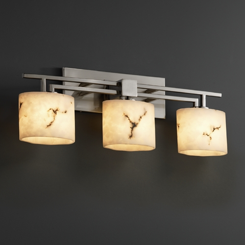 Justice Design Group Justice Design Group Lumenaria Collection Bathroom Light FAL-8703-30-NCKL
