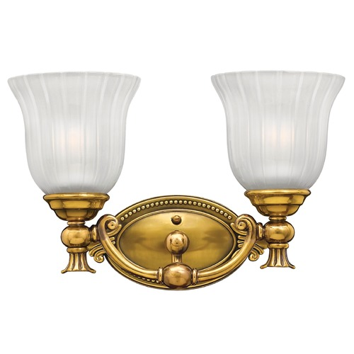 Hinkley Lighting Bathroom Light with White Glass in Burnished Brass Finish 5582BB