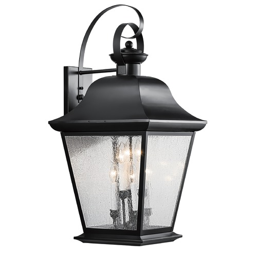 Kichler Lighting Kichler Outdoor Wall Light with Clear Glass in Black Finish 9703BK