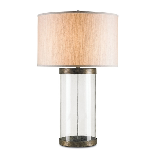 Currey and Company Lighting Currey and Company Lighting Dirty Silver Table Lamp with Drum Shade 6464