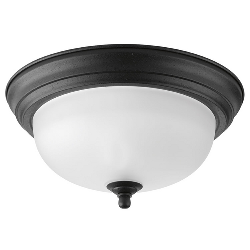 Progress Lighting Progress Lighting Melon Forged Black Flushmount Light P3924-80