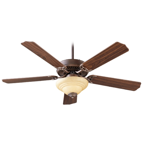 Quorum Lighting Quorum Lighting Capri Iii Oiled Bronze Ceiling Fan with Light 77525-9486