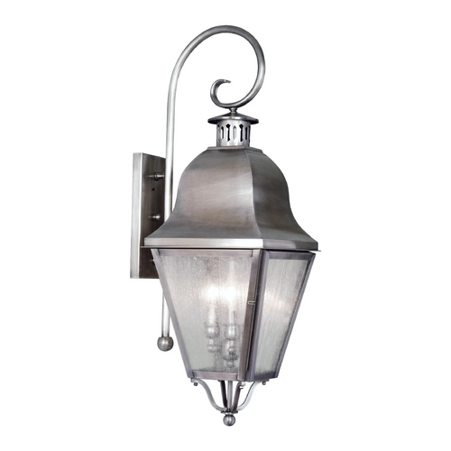 Livex Lighting Livex Lighting Amwell Vintage Pewter Outdoor Wall Light 2555-29
