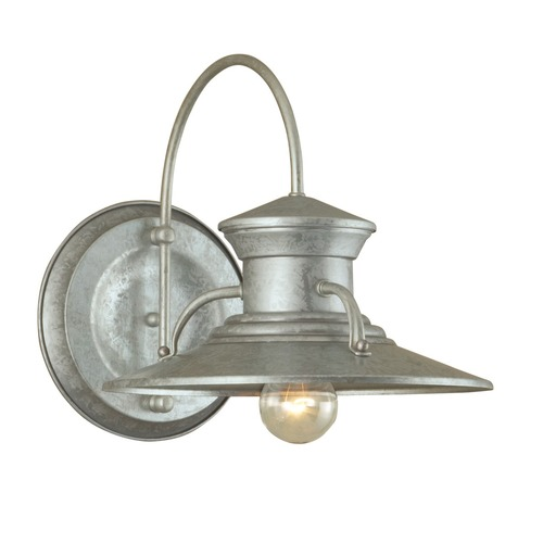 Norwell Lighting Norwell Lighting Budapest Galvanized Outdoor Wall Light 5153-GA-NG