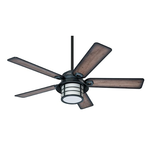 Hunter Fan Company Hunter Fan Company Key Biscayne Weathered Zinc Ceiling Fan with Light 59135