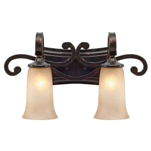 Golden Lighting Golden Lighting Portland Fired Bronze Bathroom Light 3966-BA2 FB