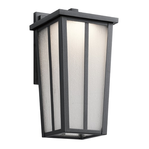 Kichler Lighting Kichler Lighting Amber Valley Textured Black LED Outdoor Wall Light 49622BKTLED
