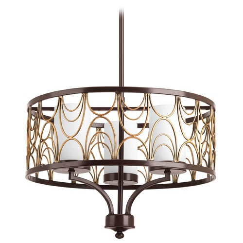 Progress Lighting Progress Lighting Cirrine Antique Bronze Pendant Light with Cylindrical Shade P4699-20