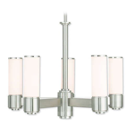 Livex Lighting Livex Lighting Weston Brushed Nickel Chandelier 52105-91