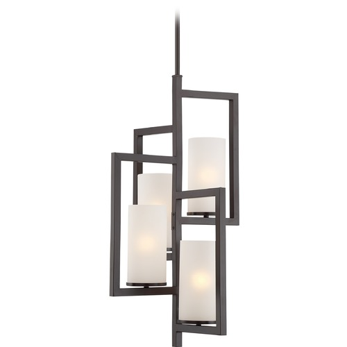 Quoizel Lighting Quoizel Lighting Cambria Western Bronze Pendant Light with Cylindrical Shade CBA5204WT