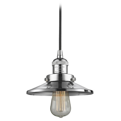 Innovations Lighting Innovations Lighting Railroad Polished Chrome Mini-Pendant Light with Coolie Shade 201C-PC-M7