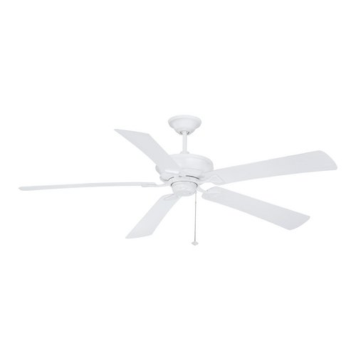 Craftmade Lighting Ceiling Fan Without Light in Matte White Finish BAP62MWW5