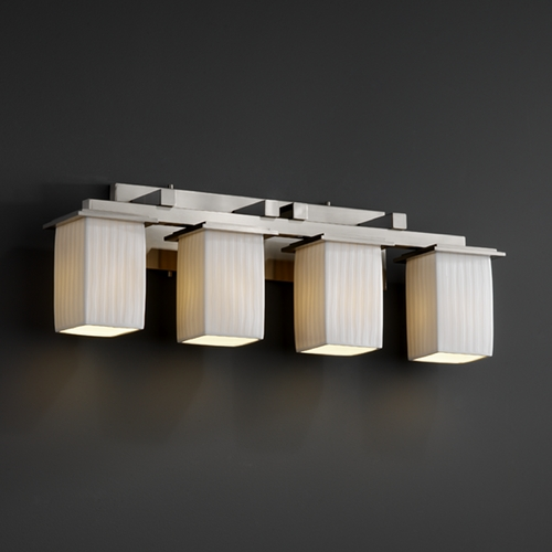 Justice Design Group Justice Design Group Limoges Collection Bathroom Light POR-8674-15-WFAL-NCKL