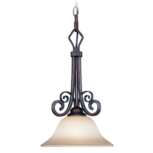 Jeremiah Lighting Jeremiah Preston Place Augustine Mini-Pendant Light with Bowl / Dome Shade 21731-AGT