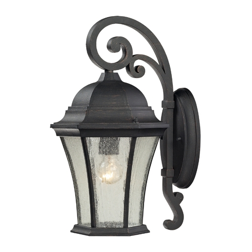 Elk Lighting Outdoor Wall Light with Clear Glass in Weathered Charcoal Finish 45051/1