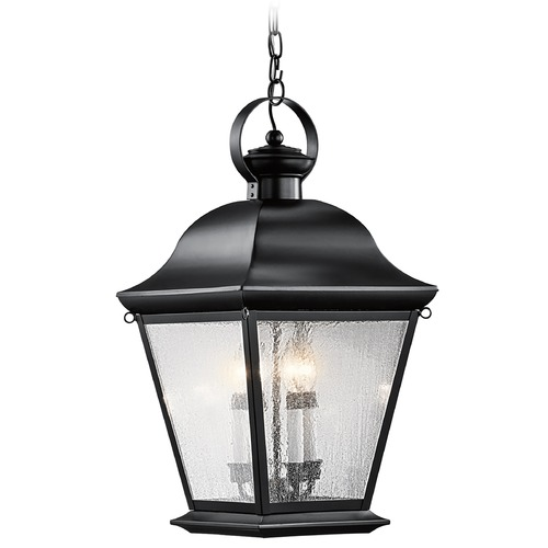 Kichler Lighting Kichler Outdoor Hanging Light with Clear Glass in Black Finish 9804BK