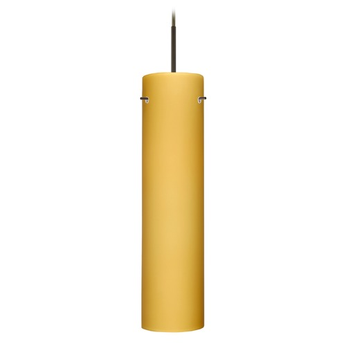 Besa Lighting Besa Lighting Stilo Bronze LED Mini-Pendant Light with Cylindrical Shade 1JT-7224VM-LED-BR
