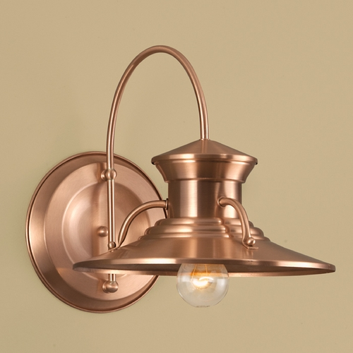 Norwell Lighting Norwell Lighting Budapest Copper Outdoor Wall Light 5155-CO-NG