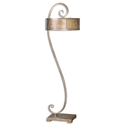 Uttermost Lighting Uttermost Dalou Scroll Silver Floor Lamp 28599