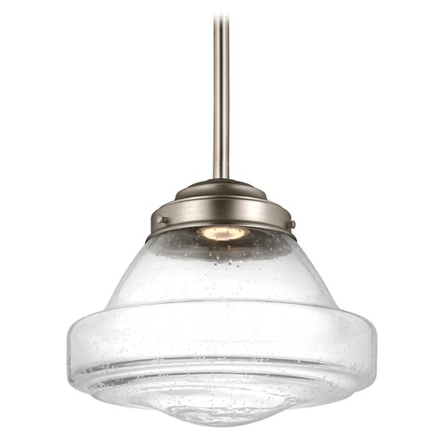 Feiss Lighting Feiss Lighting Alcott Satin Nickel LED Pendant Light P1380SN-LED
