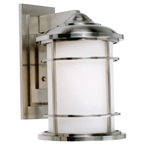 Feiss Lighting Feiss Lighting Lighthouse Brushed Steel LED Outdoor Wall Light OL2202BS-LED