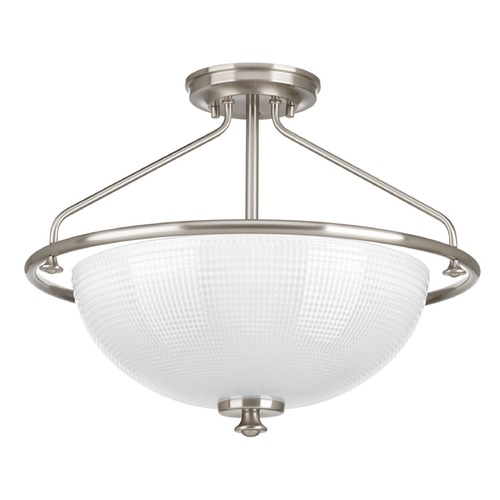 Progress Lighting Progress Lighting Lucky Brushed Nickel Semi-Flushmount Light P3664-09