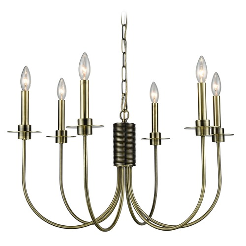 Dimond Lighting Dimond Ursela Gold Plate Chandelier D3203