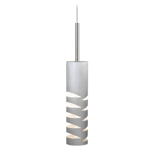 Elan Lighting Elan Lighting Rakz Brushed Aluminum Mini-Pendant Light with Cylindrical Shade 83264