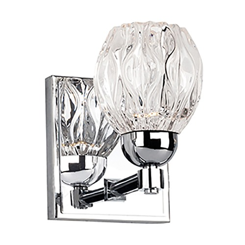 Kuzco Lighting Modern Chrome LED Sconce with Clear Shade 3000K 229LM VL56205-CH