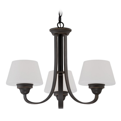 Nuvo Lighting Chandelier with White Glass in Russet Bronze Finish 60/5324