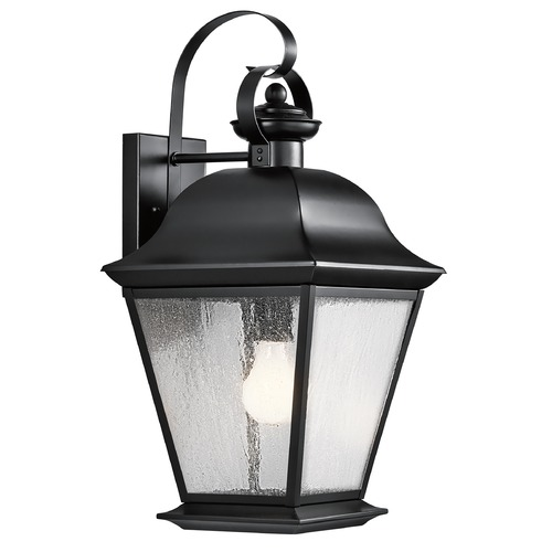 Kichler Lighting Kichler Outdoor Wall Light with Clear Glass in Black Finish 9709BK