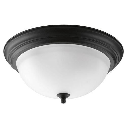 Progress Lighting Progress Lighting Melon Forged Black Flushmount Light P3926-80