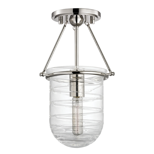 Hudson Valley Lighting Hudson Valley Lighting Willet Polished Nickel Semi-Flushmount Light 200-PN
