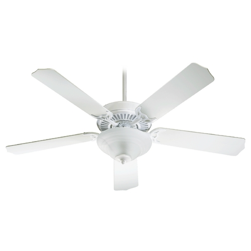 Quorum Lighting Quorum Lighting Capri Iii White Ceiling Fan with Light 77525-9506