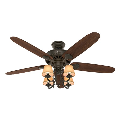 Hunter Fan Company 54-Inch Hunter Fan Cortland Ceiling Fan with Light - New Bronze Finish 53094