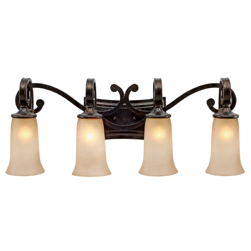 Golden Lighting Golden Lighting Portland Fired Bronze Bathroom Light 3966-BA4 FB