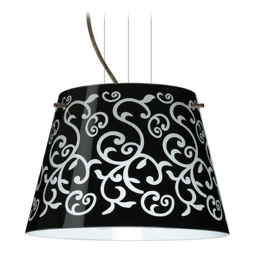 Besa Lighting Besa Lighting Amelia Bronze LED Pendant Light with Empire Shade 1KG-4393BD-LED-BR